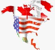 Canada USA map