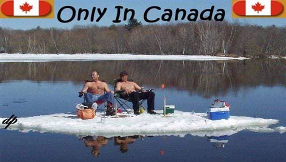 Canadians chilling