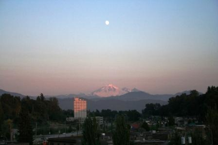 Mount Baker view from Abbotsford